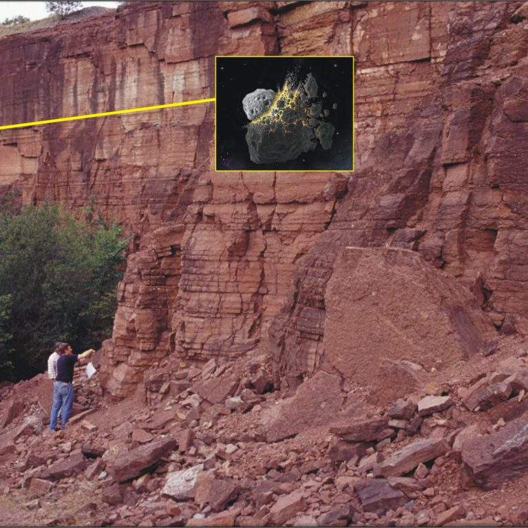 The Hällekis Quarry showing level of the L-chondrite parent body break up